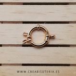 INOX - Cierre redondo clásico retráctil  dorado - 16mm