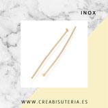 INOX - Dorado - Bastón cabeza plana P238