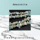 Abalorios Piedra natural Amazonita chips II rect  (80 cm aprox.) AMAZ31