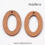 Madera colgante Aro ovalado hueco madera oscuro medio   P010  (10 unidades)