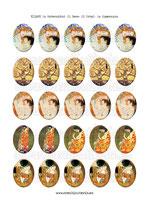 25 Obras Gustav Klimt Famosas 30x40mm