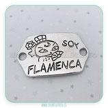 Conector mensaje SOY FLAMENCA  plata vieja
