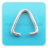 Anillas triangular plateada mate 9x9mm de diámetro (20 anillas) ACCANI-C03299
