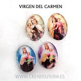 Cabuchón Cristal Religión - Virgen del Carmen 4 modelos x 2 (8 unidades)