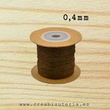 Cordón macramé extrafino 0,4mm  (5 metros) Color siena tostada