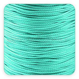 Cordón plastificado turquesa - aguamarino claro  finito 1mm (4 metros)
