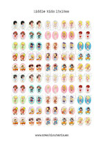 100 Imágenes Recortables Liddle kiddles paper doll 13x18mm