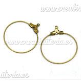 Pendiente Aro bronce viejo  ACCBAS-C16103 (4 pares)