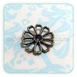 CONECTOR/A/010 -flor con hueco para strass o cabuchón  bronce-C1487 (10 unidades)