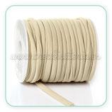 Cordón Lycra elástica Soft  5mm Beis - 5 metros