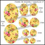 Imagen Flores de colores 07 amarillo