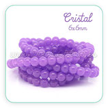 Abalorio cristal Púrpura 6mm ( tira de 150 abalorios aprox) ABAL-Cristal C28309