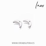 INOX - Charm Luna / cuerno acero inox  P073 (10 unidades)