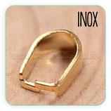INOX - Clip inox DORADO para colgantes PL159-20G  (10unidades)