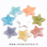 Bolsita 25 estrellas acrílicas colores imitación piedra P47002