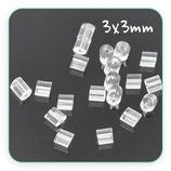 Tapones pendientes - 30 piezas caucho transparente cilíndrico  C910S (30unidades)