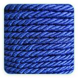Cordón trenzado de algodón azul electrico 3 mm