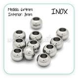 INOX - Accesorios - Bola 6x4mm Agujero 3mm  R625 (60 unidades)