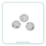 Charm mini - Redondo  mini  plata antigua  C540  (20 piezas)