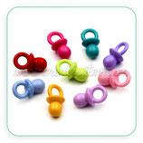 Adorno chupetes de colores variados opacos (10 unidades)