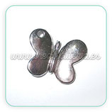 Charm Mariposa 013 - redondita plata CHAOOO-R01 - 10 unidades