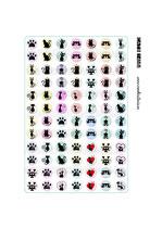 84 Imágenes de gráficos de gatos sobre color 14x14mm