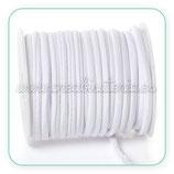 Cordón Lycra elástica Soft 5mm Blanco - 5 metros