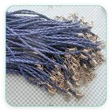 Correa collar cuero trenzado (sintético)  2mm azul marino