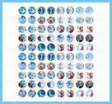 80 imágenes de Frozen 12x12mm