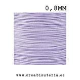 Cordón macramé Gama Deluxe 0,8mm  Color lavanda muy claro (5 metros)