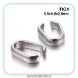 INOX - ANILLA tipo clip acero inoxidable 8.5x6.5x2.5mm P223 (20 unidades)