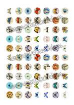 70 Imágenes vintage de mariposas 20x20mm
