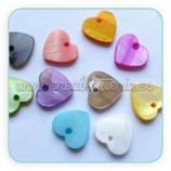 Concha en forma de corazón (20 unidades) CONCH-Corazones de colores varios