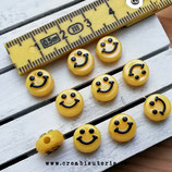 Bolsita Smileys - emoticonos acrílicos amarillos 10mm - 20 unidades