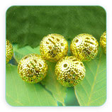 Entrepieza dorada - DO1- 12 -  Bola hierro dorado -ENTOOO-C00914 (10piezas)