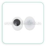 Adorno ojos ovalados de colores para pegar 10x8mm (26 unidades) AD-C35239