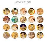 20 Obras Gustav Klimt 25mm