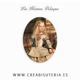 Cabuchón Cristal estampado ARTE Las meninas de Velázquez, detalle