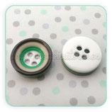Botones 12mm verde caqui y beis rayas  4 agujeritos (10 unidades)