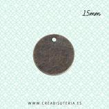Charm BASIC medalla lisa bronce viejo 15x15mm C58 (25 unidades) NEW*