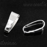 Util - Colgante clip grande plateado ACCOTR-C16872 - 40 piezas