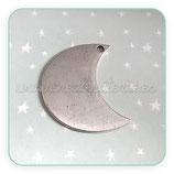 COLGANTE STAR/ 011 -  Luna Lisa plateada COLOOO-R30479 (2 unidades)