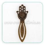 Marcapáginas camafeo bronce viejo Mano Fátima N 18x18mm MAROOO-P12A