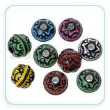 Bolsita 12 bolas colores variados estilo étnico C55769