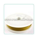 Hilo de alambre de acero dorado 0.45m (100m) HIL- C15911