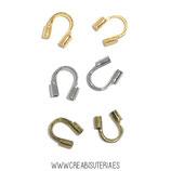 Util- Protectores de alambre para confección de pulseras y collares  (30 unidades) C706