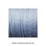 Cordón Nylon trenzado 1,5-2mm - 4 metros -  color gris azulado clarito