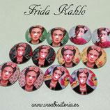Liquidación  lote cabus Frida Kahlo 25mm (6 pares mixtos)