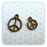 """Charm Espiritual -   """"Paz""""   bronce viejo CHAOOO-R16688b"""