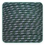 Cordón de Nylon de Escalada Redondo 3mm Verde oscuro  blanco y azul (3 metros)